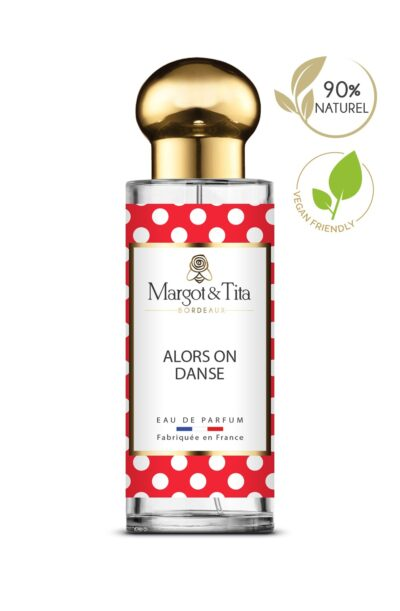 30ml perfume So we dance from the brand Margot&Tita. Oriental scent composed on top of pear, tangerine, bergamot, in heart, cardamom, rose, apricot, red fruits and in base amber, vanilla, sandalwood, musky and caramel.