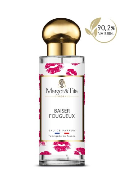 30ml perfume Fiery kiss from the brand Margot&Tita. Floral scent composed on top of jasmine, cypriol, orange, in heart, heliotrope flower, apricot and in base vanilla, musk, sandalwood and woody.