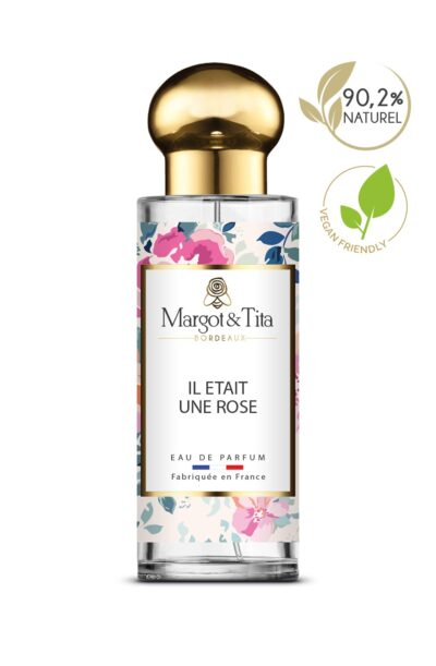 30ml perfume There was a rose from the brand Margot&Tita. Floral scent composed on top of mandarin, lemon and rose. In heart jasmine, violet, geranium, rose and in base raspberry, musky, ambery.