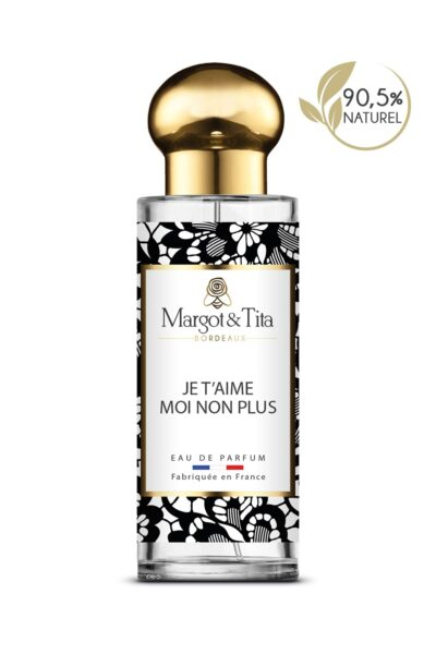30ml perfume I love you…me neither from the brand Margot&Tita. Floral scent composed on top of pear, rose, davana and bergamot. In heart jasmine, patchouli, blackberry and in base praline, vanilla, woody, musky.