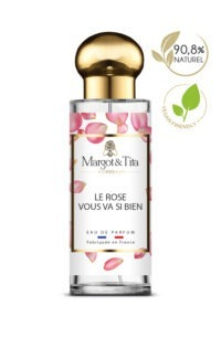 30ml perfume Rose suits you so well from the brand Margot&Tita. Floral scent composed on top of rose, bergamot and galbanum. In heart cedarwood, magnolia, powdery and in base peony, moringa, musky, woody.