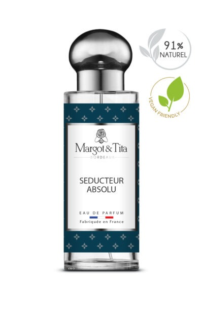 30ml perfume Absolute seducer from the brand Margot&Tita. Woody scent composed on top of bergamot, spicy notes, geranium and bay leaves. In heart cappuccino accord, patchouli, tobacco and in base woody, vanilla, aromatic notes.