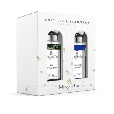 """Gift box duo mix and match 2 30ml perfumes """"Dangerous game"""" and """"Life's a beach"""" by Margot&Tita. Discover an aquatic and woody meeting."""