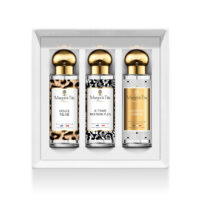 "Trio gift box Seduction game with 3 30ml perfumes ""Gentle feline"", ""I love you… me neither"" and ""Lessons in charm"" by Margot&Tita. Discover gourmet and sensual notes."