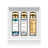 "Trio gift box Sweet summer with 3 30ml perfumes ""Flirty summer"", ""Ocean view"" and ""A weekend in Arcachon"" by Margot&Tita. Discover fruity, solar and marine notes."