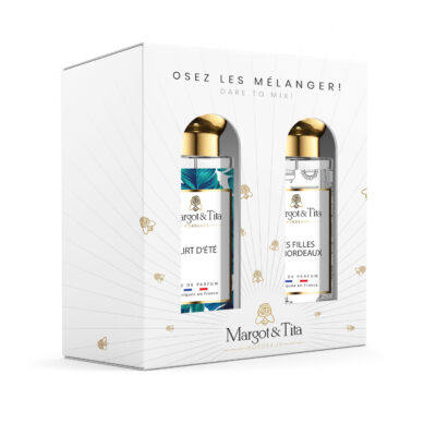 "Gift box duo MIX AND MATCH 2 30ml perfumes ""Flirty Summer"" and ""The girls of Bordeaux"" by Margot&Tita. Discover a fruity and floral meeting."