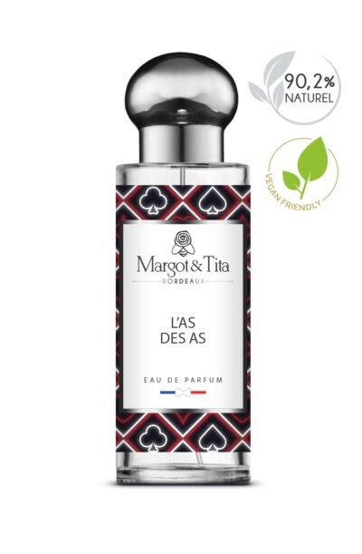 30ml You're an ace from the French brand Margot&Tita. A woody and fruity scent composed on top of bergamot, lemon, aromatic notes, in heart, apple, fruity, spicy and in base sandalwood, musky, ambery.