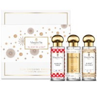 """Trio gift box All night long with 3 30ml perfumes """"So we dance"""", """"The perfect woman"""" and """"All night long"""" by Margot&Tita. 3 fragrances with floral and fruity notes."""